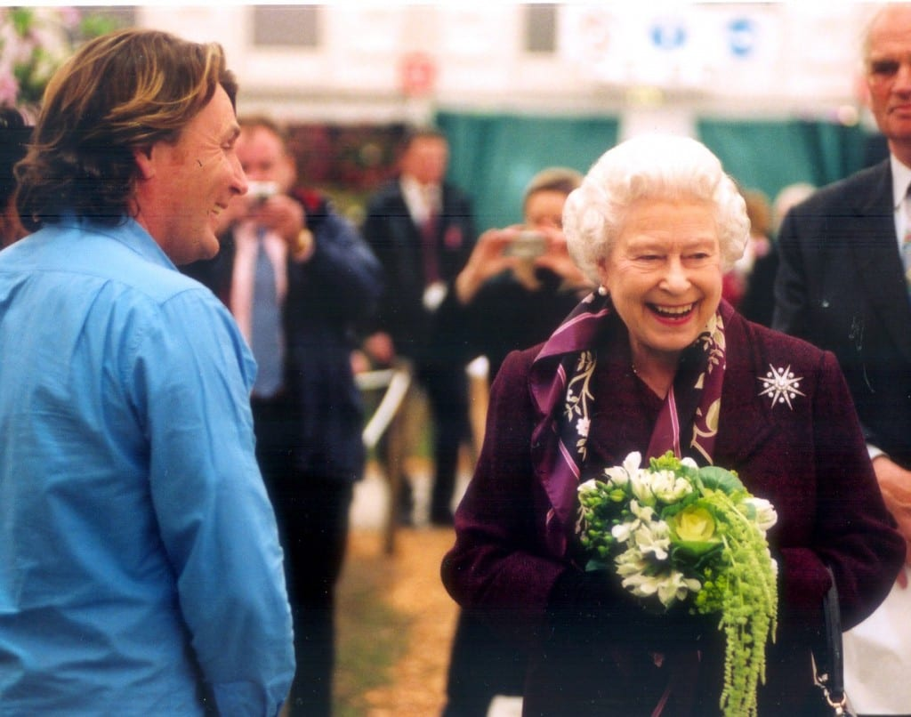 David Domoney and the Queen