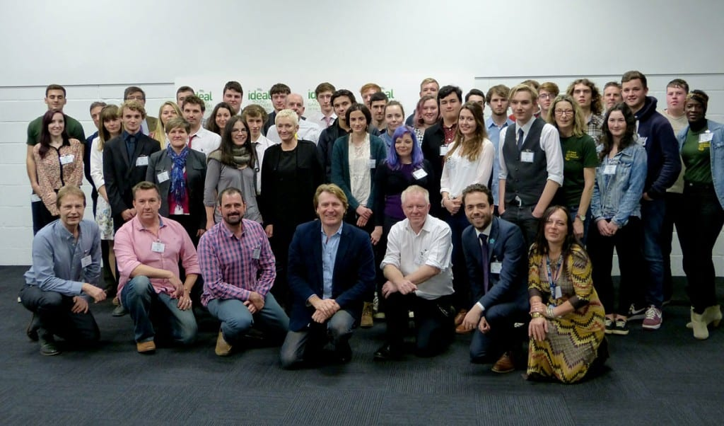 Students, staff and organisers of the Young Gardeners of the Year competitionat the November launch