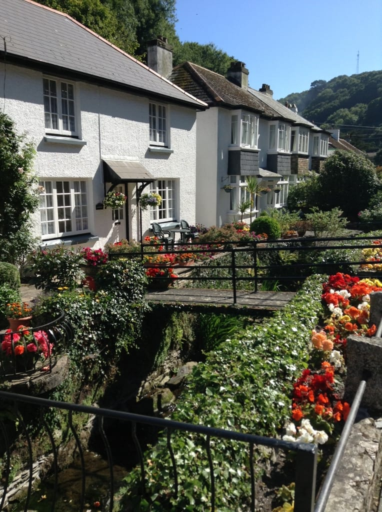 The Coombes, Polperro. front garden campaign
