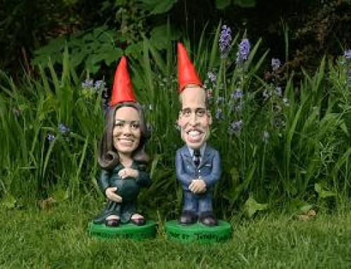 Kate and Will Gnomes at RHS Chelsea Flower Show 2013