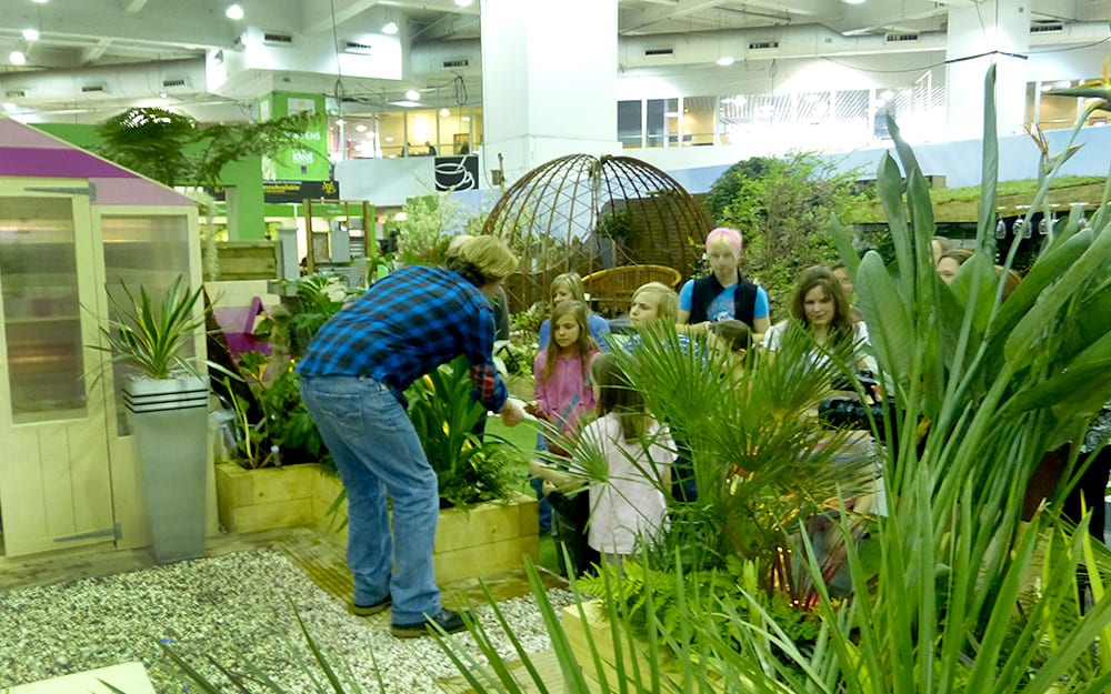 The kids learnt about how different plants feel