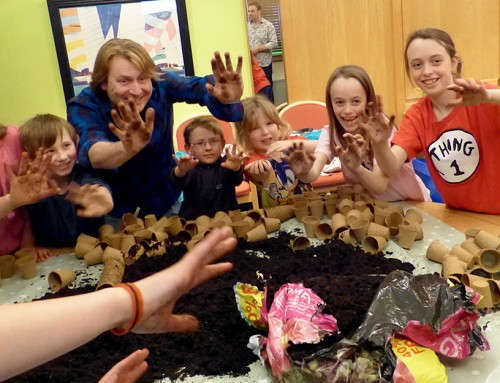 Gardening demo with Mygrove schools students