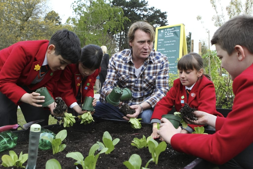 Launching an RHS school gardening project in Cardiff
