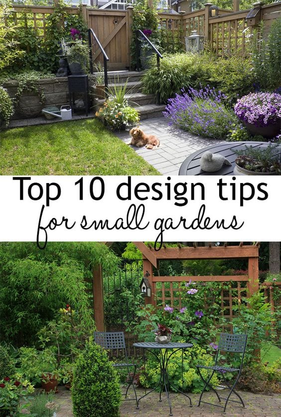 Top 10 tips for small garden design to transform your space for Small garden layout