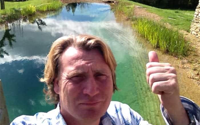 David Domoney Love Your Garden Series 4 ITV swimming in pond