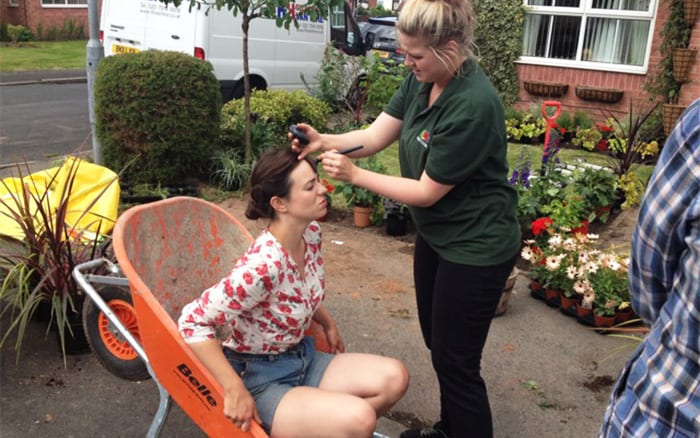 Make up artist with Frances Tophill on Love Your Garden