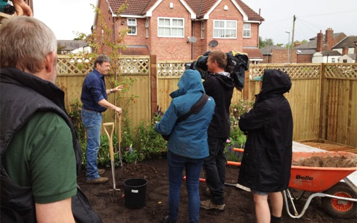 Alan Titchmarsh planting a tree on Love Your Garden ITV