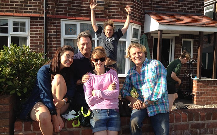 Alan Titchmarsh, David Domoney, Frances Tophill and Katie Rushworth Love Your Garden team photo photobomb