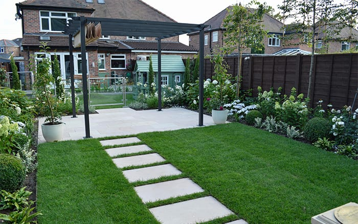 paving and lawn in Love Your Garden episode 7