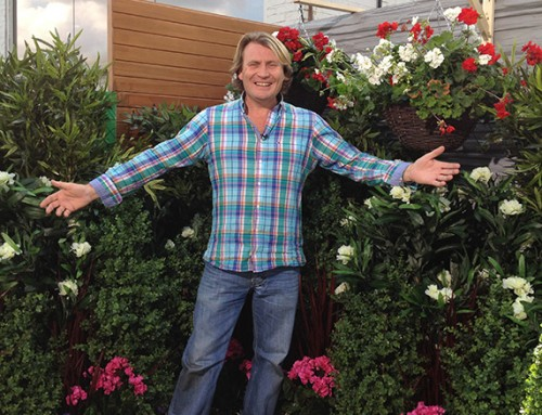 Showcasing garden fakery with artificial plants on ITV's This Morning