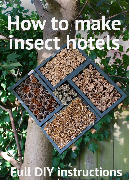 Step by step guide to making your own insect hotels