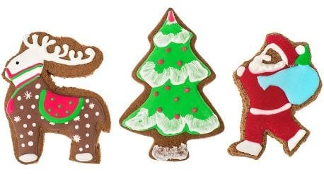 Rudolph-Christmas tree and-Santa-iced-biscuits