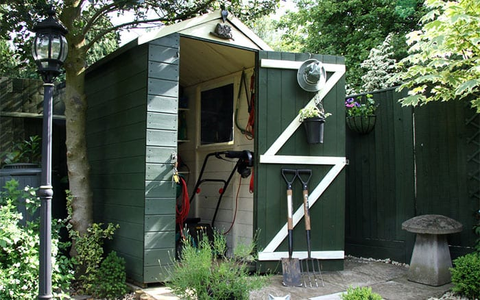 shed-painted-green-and-white-open-door