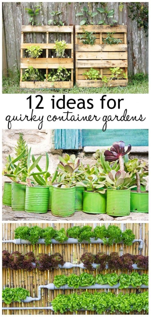 12 ideas for quirky container gardens - the best unusual planting and container gardening ideas