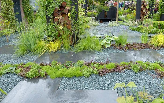 Front garden slate