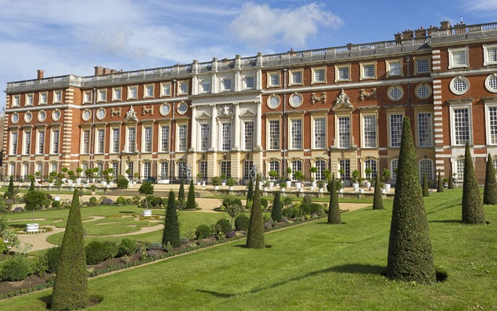 Hampton Court Palace. Anthony Shaw/Shutterstock.com