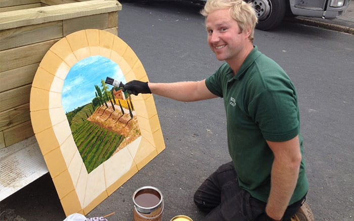 9-kevin-painting-on-love-your-garden-behind-the-scenes