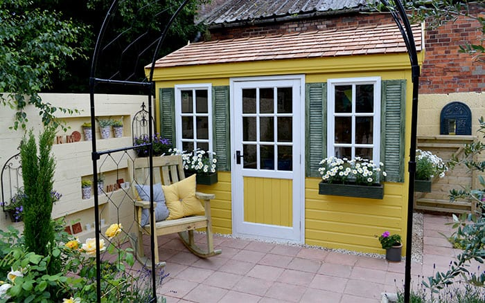 Love Your Garden Shed Painted Finished Garden Makeover
