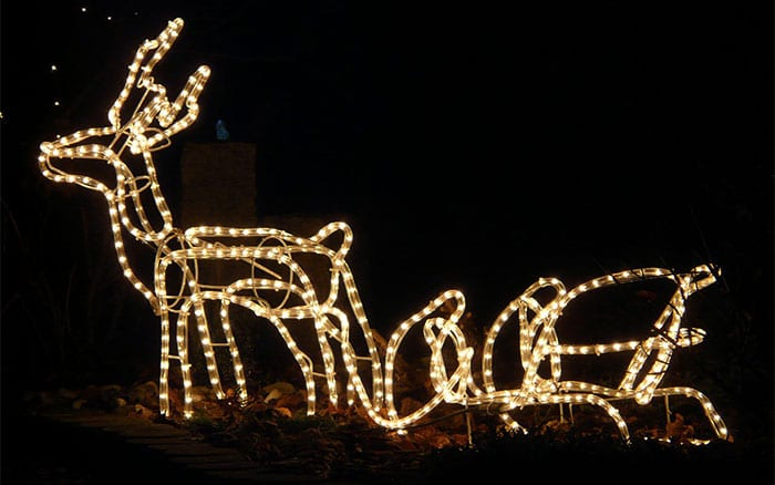 novelty christmas outdoor lighting reindeer and sleigh rope lights