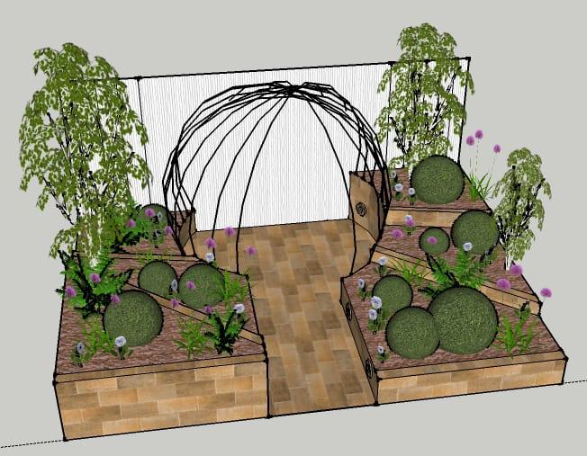 Chichester College Final Young Gardeners Show Garden Design 2016