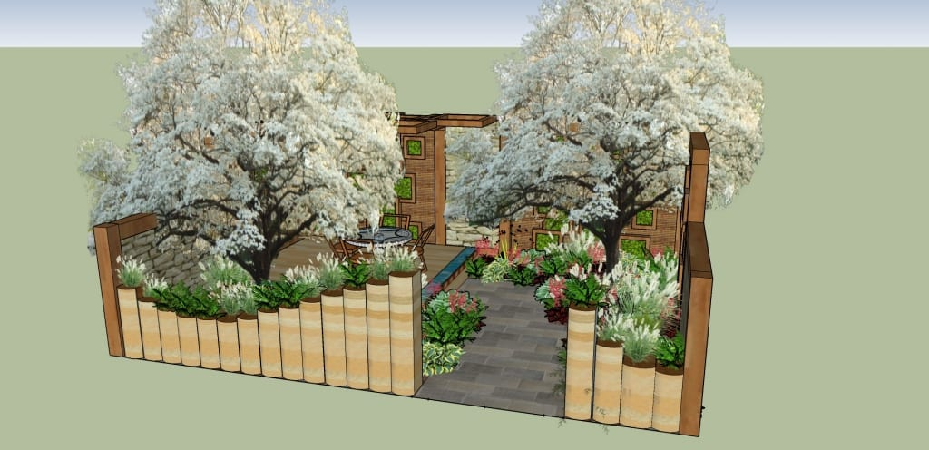 New London final garden design. Askham Bryan College for the Ideal Young Gardeners of the Year 2016.