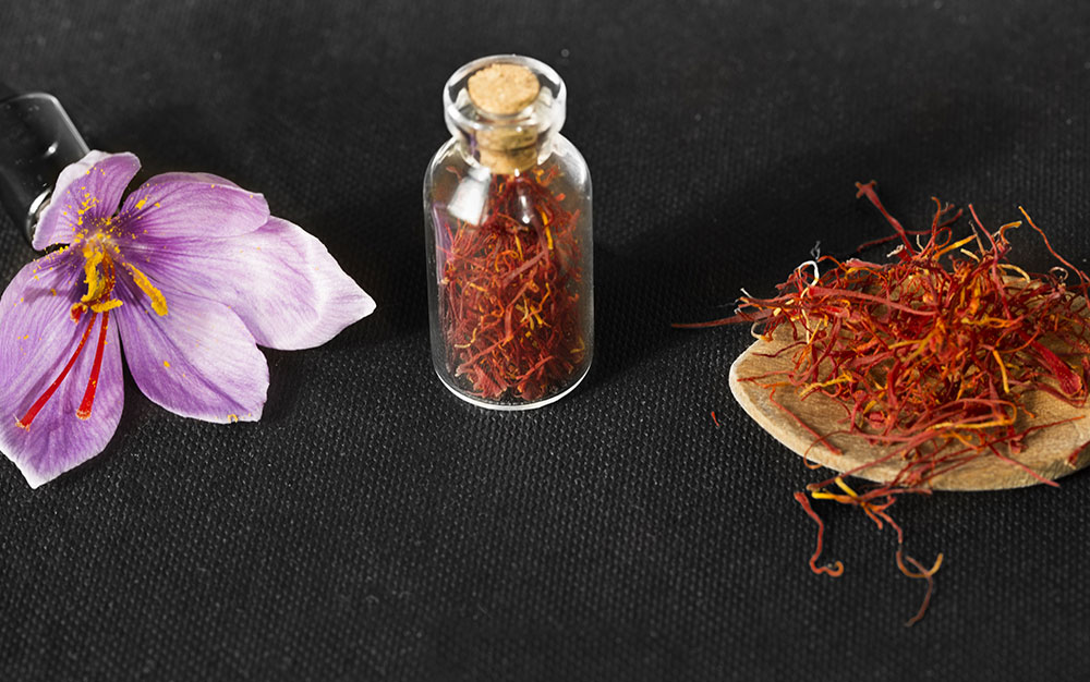 saffron-dried