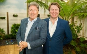 Alan Titchmarsh and David Domoney at the Young Gardeners of the Year 2016 competition
