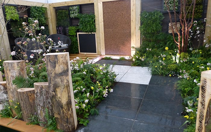 Askham Bryan College's contemporary woodland show garden for the Young Gardeners of the Year competition - see the best design ideas