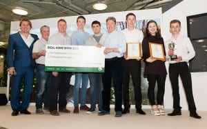 Askham Bryan College wins the Best at Show trophy at the Young Gardeners of the Year 2016 Competition, plus a cheque