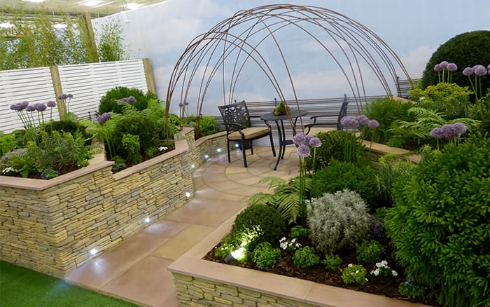 Chichester College Young Gardeners of the Year show garden 2016 - see all the finished photos