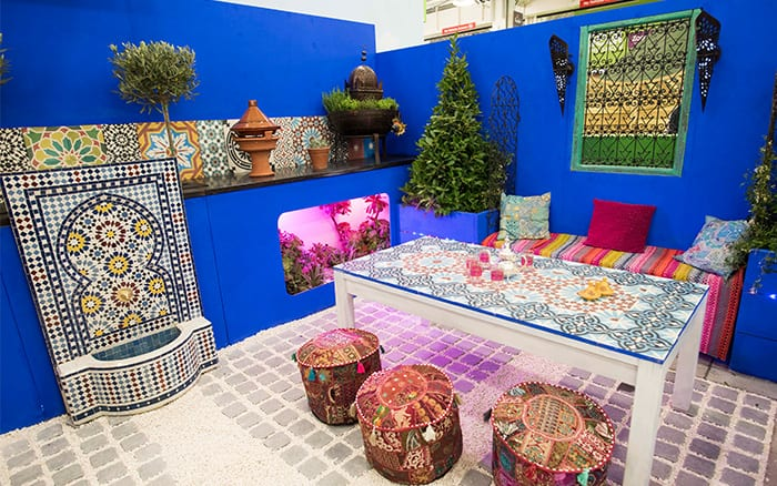 Shuttleworth College Moroccan-inspired show garden for the Young Gardeners of the Year 2016 Competition