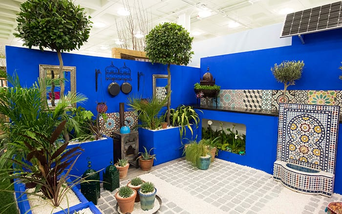 Shuttleworth College designed a Moroccan show garden for the Ideal Home Show