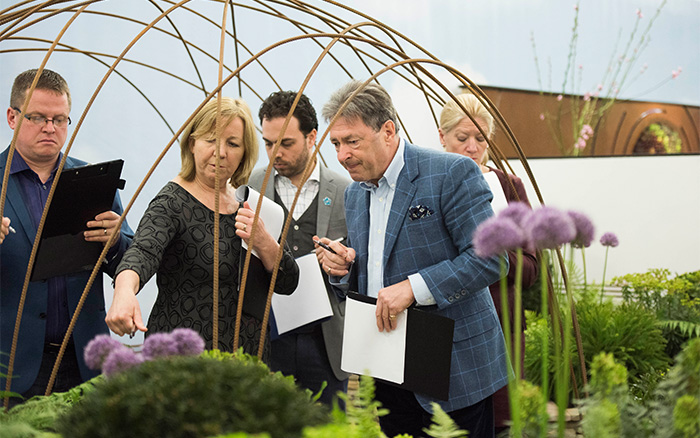 Young Gardeners of the Year 2016 judges explore the show gardens