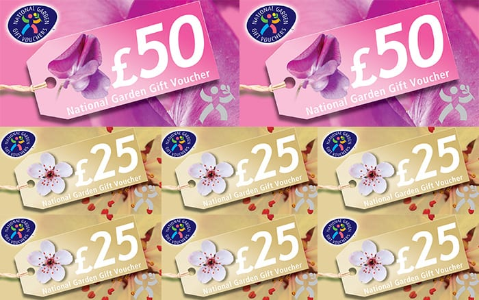 Competition win 250 of national garden gift vouchers for Gardening gift vouchers