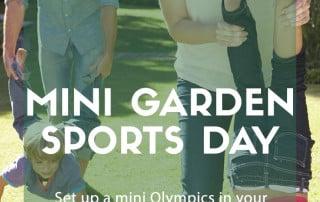 mini garden sports day