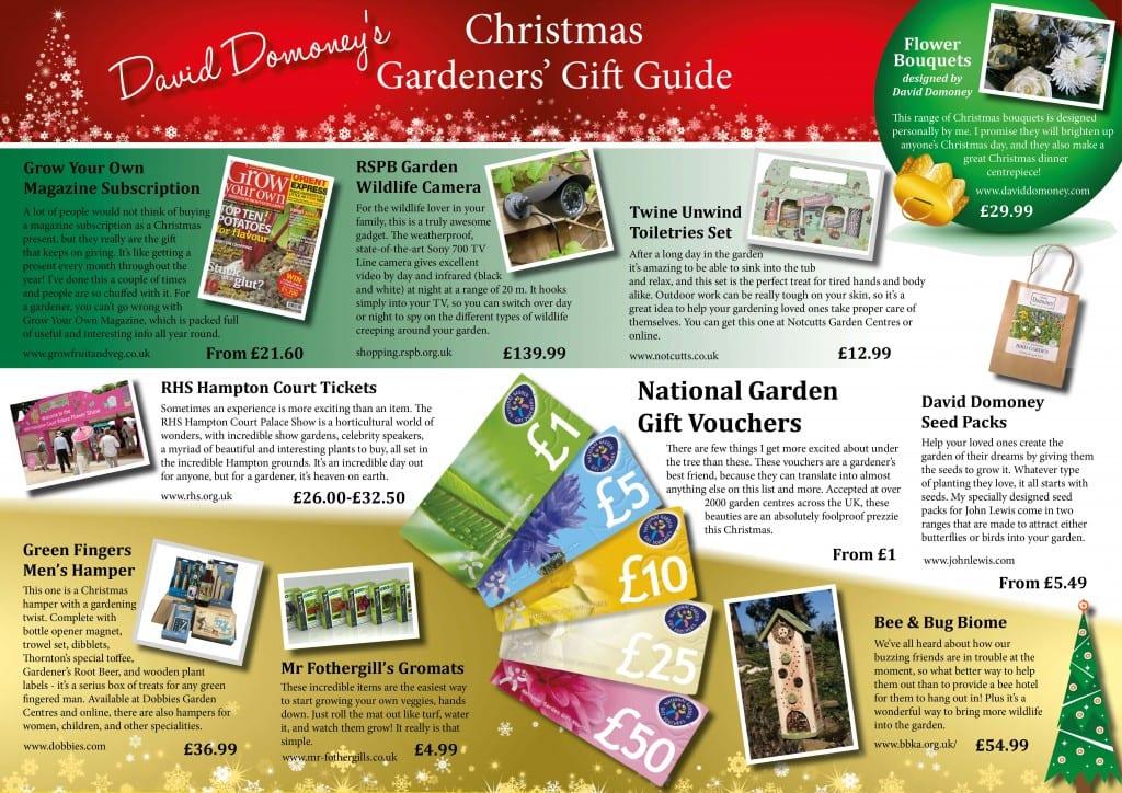 Gardeners\' Christmas Gift Guide - David Domoney