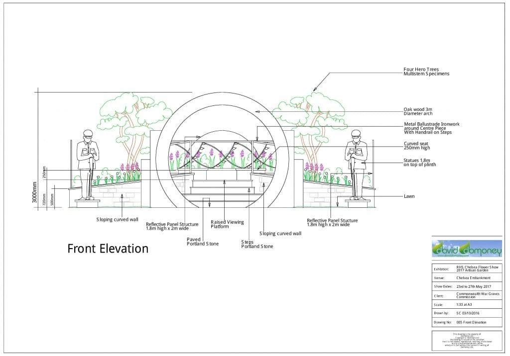 Front Elevation Plan Meaning : Chelsea garden david domoney