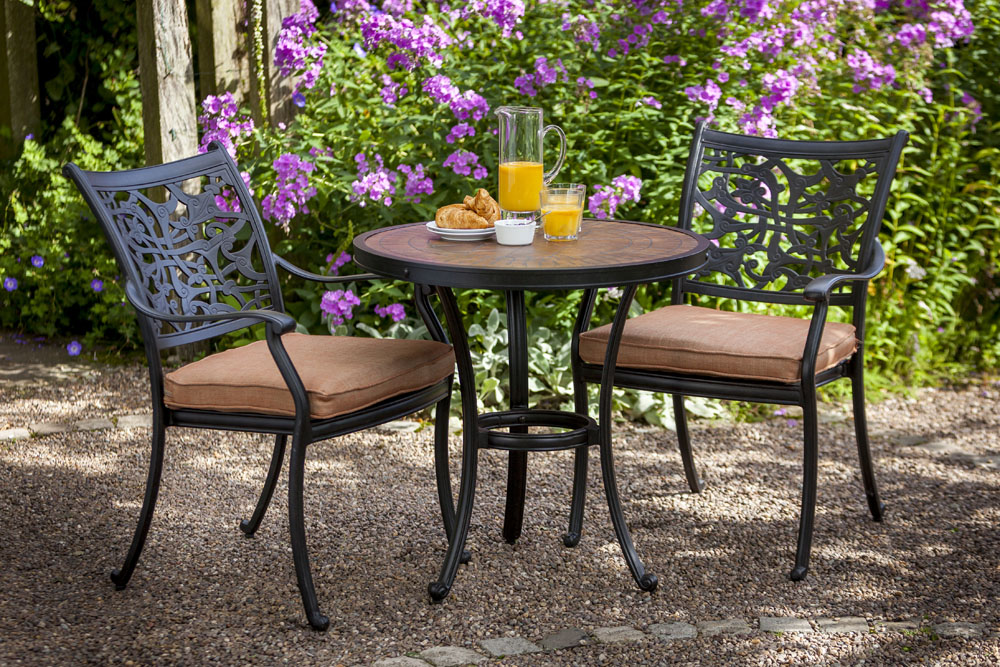 Celtic Aria Bistro 2 Seat Garden Dining Furniture Set David Domoney