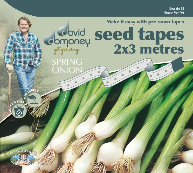 Grow your own Spring Onion White Lisbon seed tape