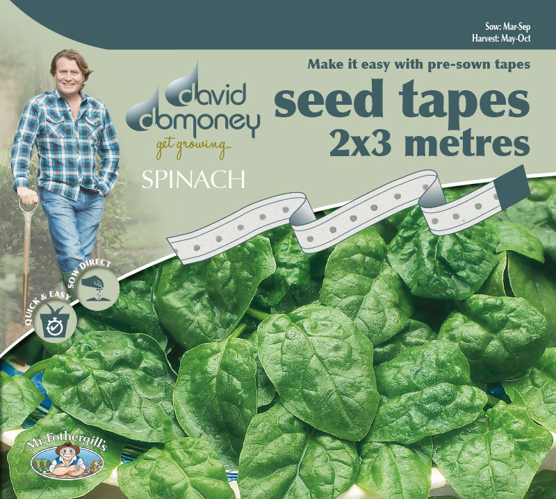 Grow your own Spinach Tape seeds