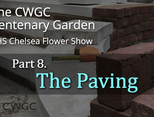 The CWGC Centenary Garden – The Paving