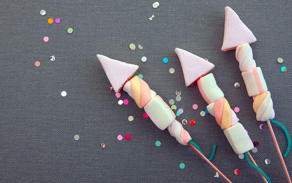 marshmallow firework kebabs