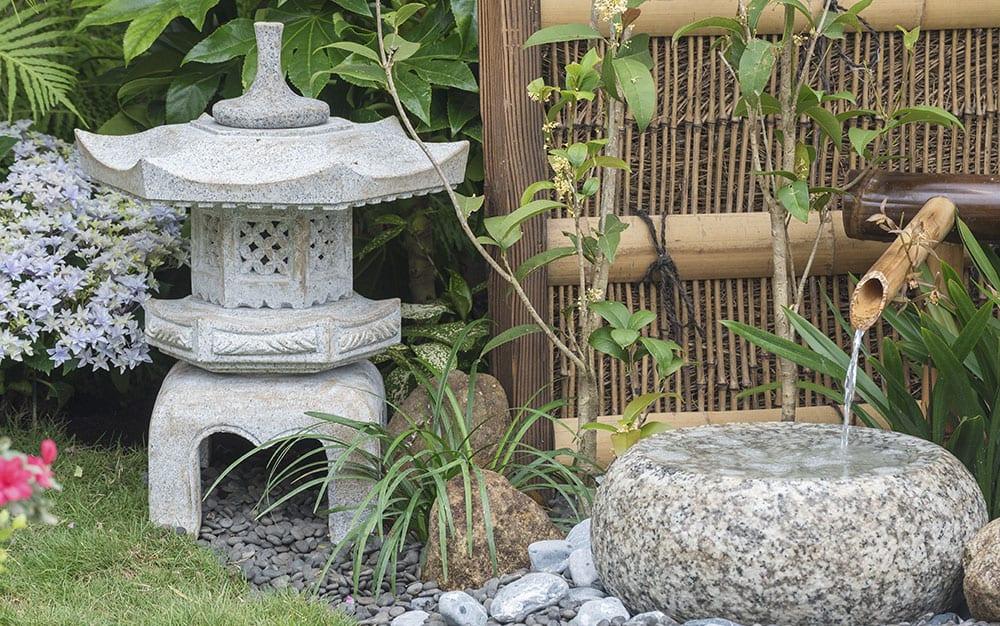 bamboo pagoda -water-feature