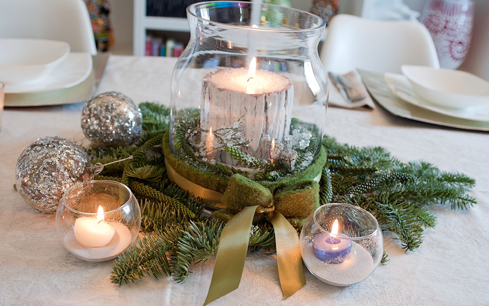 fir-and-white-candle-centrepiece