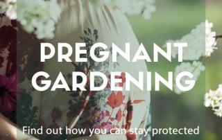 pregnant gardening