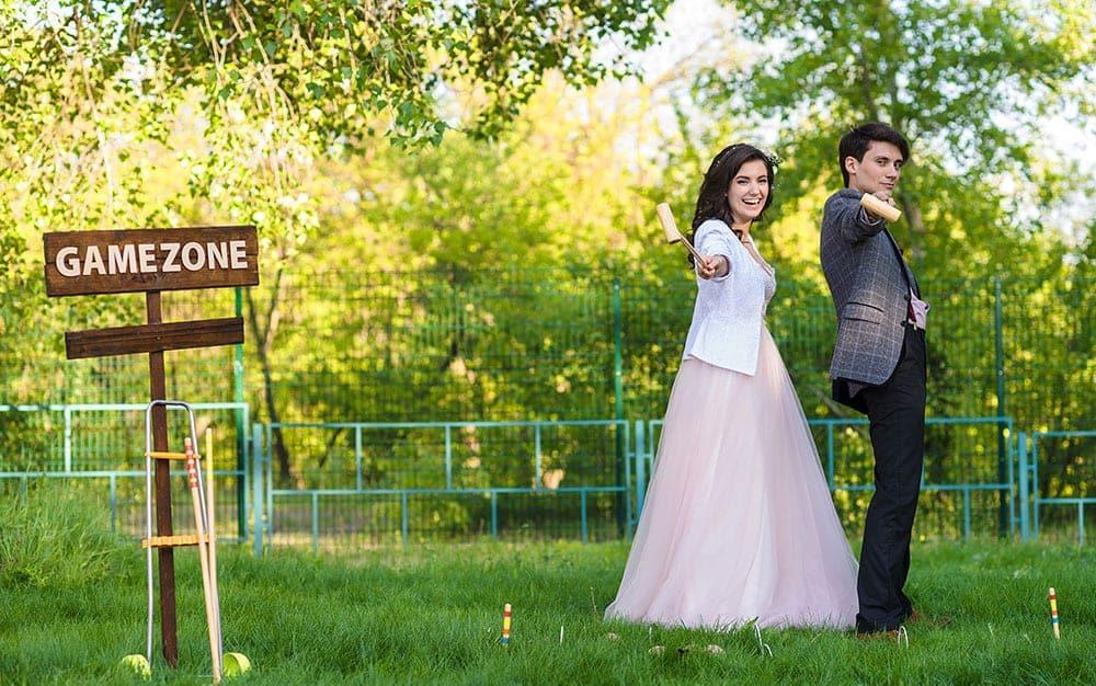 wedding lawn croquet