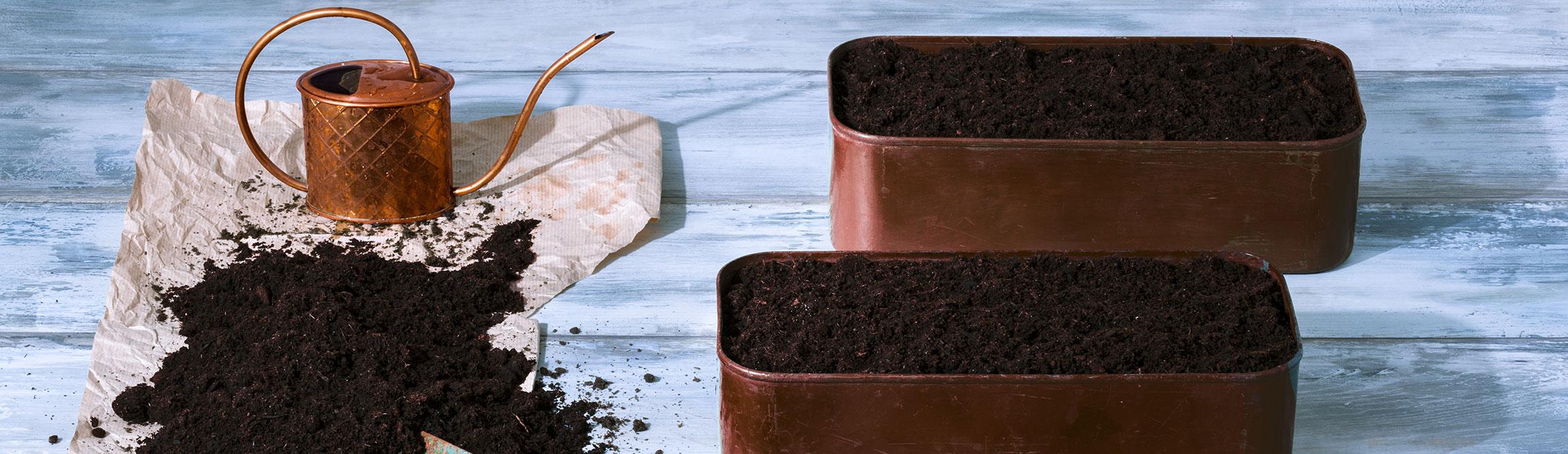 Copper-plant-pots