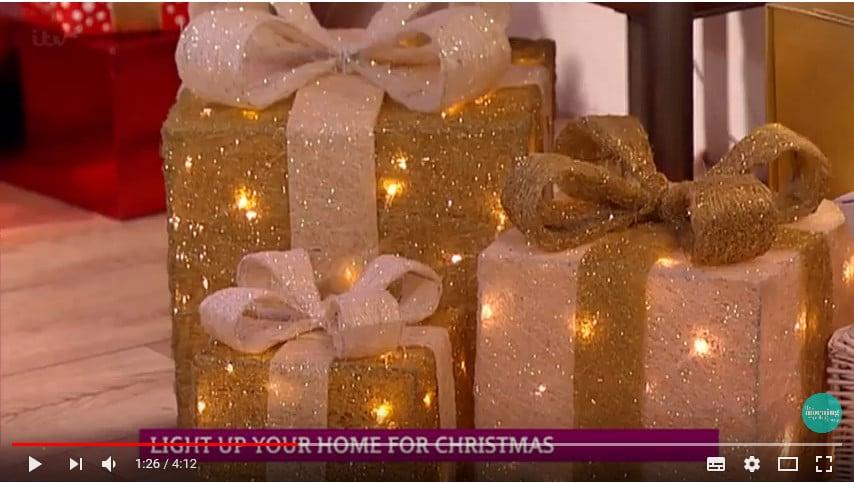 Indoor Christmas lights video