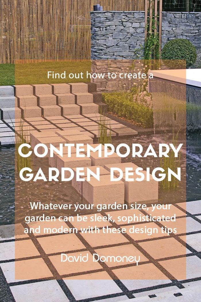 Contemporary modern garden design