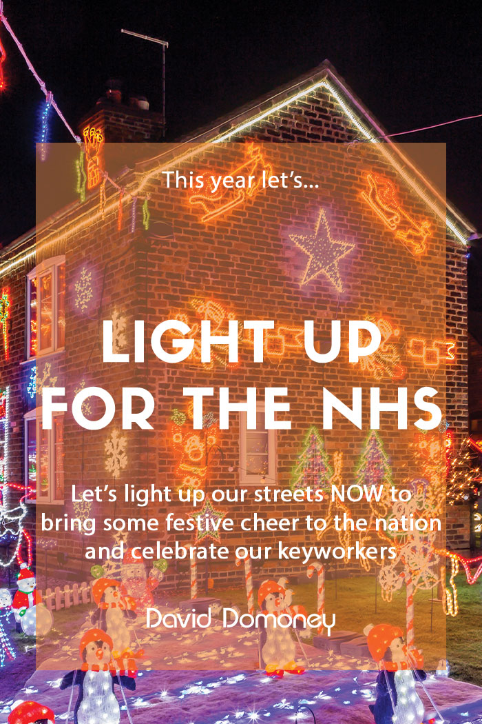 Light up our streets now for the NHS this Christmas